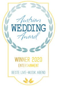 Die All Jazz Ambassadors sind die Gewinner des Austrian Wedding Award 2020 in der Kategorie Entertainment-Livemusik am Abend